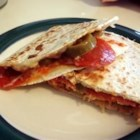 Grilled Pizza Wraps - Super fast, delicious, very easy! Tortillas filled with your favorite pizza toppings, and fried like quesadillas. Great for appetizers, or as a meal!