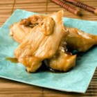 Sticky Chicken Strips - Chicken tenders are baked in a sweet, sticky sauce. Great for parties and picnics.