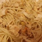 Spaghetti with White Clam Sauce - In less than the time it takes to boil pasta, you can whip up a tasty sauce of canned clams seasoned with sauteed garlic, parsley, oregano, basil and pepper. Toss with hot spaghetti and grate a little Romano cheese over the top.