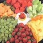 Big Mama's Fruit Dip - Marshmallow creme and cream cheese are mixed together to make a splendid dip.