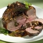 Stuffed Leg of Lamb with Balsamic-Fig-Basil Sauce Recipe