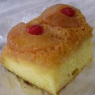 Pineapple Upside-Down Cake IV - Bottoms up and there's the topping! The cake's ready as soon as it pops out of the oven.