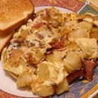 Bauernomlett (Farmer's Omelet) - Eggs, bacon and potatoes all blend into one dish for a simple breakfast option. Serve it with ketchup for the kids or with a dill pickle for a German-style brunch.