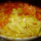Lazy Baked Macaroni and Cheese - A very easy, no-boil recipe for cafeteria-style macaroni and cheese, which bakes up deliciously custardy on the inside and crusty on the outside. Mix the ingredients, pour it in the baking dish, pop it in the oven, and forget about it until the timer rings!