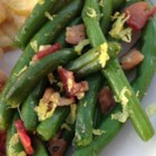 Bacon-Garlic Green Beans - Bacon and garlic are the secret ingredients in this green bean dish that's sure to become a Thanksgiving favorite, or even on your weeknight dinner table.