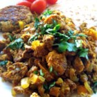 Egg Bhurji - Egg bhurji, scrambled eggs seasoned with garam masala, turmeric, and coriander, is an Indian-inspired way to eat eggs for breakfast.