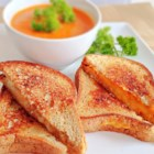 Grilled Cheese Sandwich - Bread, butter and Cheddar cheese - here's a way to make this classic sandwich in a nonstick pan.