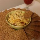 Smoky Gouda Cheese Dip - This baked cheese dip uses smoked Gouda cheese and Gouda cheese with chipotle peppers for a smoky and delicious treat . . . with bacon!