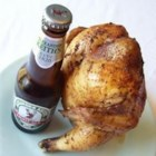 Drunk Chicken - Cooked over the grill with a beer can up inside - fun to make and eat!