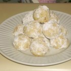 Snowballs II - These are technically Mexican Wedding Cakes or Russian Teacakes, but my grandmother gave up on us calling them that years ago!