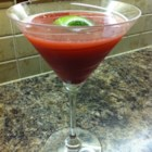 Blood Orange Martini - Blood orange juice replaces cranberry juice in this refreshing blood orange martini garnished with lime juice.