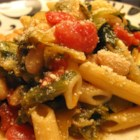 Penne Pasta with Cannellini Beans and Escarole - This is a great pasta dish. The hardest part of the whole recipe is cutting the escarole. It is fast, simple, and delicious! What more could you ask for? With a loaf of Italian bread it goes a long way. Enjoy!