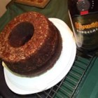 Chocolate Mocha Liqueur Cake II - A German Chocolate Bundt cake, coated with ground pecans and well imbibed with coffee liqueur.