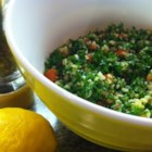 Tabbouleh II - Such a refreshing salad and it holds nicely in the refrigerator if you want to make it ahead. Light and nutty bulgur is soaked in water until it 's fluffy and ready to be combined with parsley, mint, tomatoes, and a bit of oil and freshly squeezed lemon juice. Serves four.