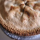Fresh Pear Pie - Sliced pears are tossed with a lemon-cinnamon sugar mixture and baked in a double-crust pie shell. Serve plain, or topped with whipped cream or ice cream.