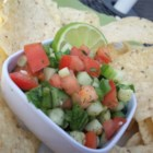Cool Cucumber Salsa - A great way to use all those cucumbers you get from your plants! A little zing from the jalapeno and a burst of lime add a fresh taste to cucumbers in this refreshing fresh salsa.