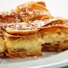 Tiropita - This Greek cheese pie is made with layers of crispy phyllo dough and a filling of feta and Kefalotiri cheeses. If you can't find Kefalotiri, you can use Parmesan cheese.
