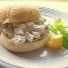 Basic Chicken Salad - Sometimes the best approach is the simplest one, as in this mix of chicken, mayonnaise, almonds and celery. Use herbed chicken for extra flavor.