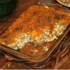 Chicken Casserole Del Sol - Creamy chicken, veggies and pasta star in this one-dish meal that you can make ahead up to 24 hours in advance. Or freeze it uncooked until you need it. In place of the canned green beans, you can substitute 16 ounces of mixed veggies, frozen or thawed. If frozen, you'll need to extend the cooking time by about 15 minutes.