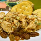 Holiday Chicken Salad My Way - Chicken salad with raisins, pecans, and water chestnuts is perfect served on crackers, bread, or all on its own.