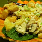 Pineapple Chicken Salad - Like a little pineapple and orange flavor in your chicken salad, try this recipe, which also features bell pepper, mushroom, and olives.