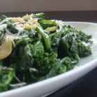 Maria's Broccoli Rabe - Broccoli rabe (rapini) sauteed with garlic and dusted with Parmesan cheese.