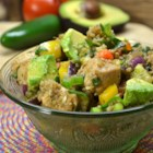 Mexican Chicken Quinoa Salad - Chicken, quinoa, avocado, and jalapeno peppers are tossed with salsa in this hearty and easy Mexican quinoa dish.