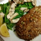 Pan Fried Tuna Patty - Mix tuna with egg, celery, walnuts, dill, and a bit of mayonnaise to create these delicious pan-fried tuna patties.