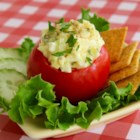 Egg Salad with Chopped Gherkins - This classic egg salad with chopped gherkins works well on sandwiches, crackers, in a lettuce cup, or in a tomato half.