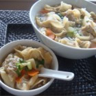 Wonton Soup - Wontons stuffed with a mixture of pork and shrimp seasoned with soy sauce and ginger root are gently simmered in chicken broth.