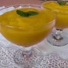 Tropical Mango Mousse - There's nothing quite so refreshing as mangos!  Preparation time: 5 minutes. This recipe is from The WEBB Cooks, articles and recipes by Robyn Webb, courtesy of the American Diabetes Association.