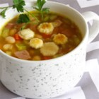 Quick Ham and Bean Soup - Make this recipe for quick and easy ham and bean soup in less than an hour with typically on-hand ingredients.