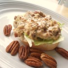 Orange Pecan Tuna Salad - A nice and refreshing tuna salad to use as a sandwich filling or a cracker spread. Orange juice and pecans give the salad a lovely sweet nuttiness.