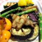 Eggplant Mixed Grill - Marinated vegetables are grilled to perfection.