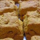Crissi's Sweet Potato Biscuits - Use your leftover sweet potatoes in this yummy biscuit recipe made with wheat germ and seasoned with nutmeg or cardamom.