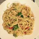 Chicken Lo Mein with Broccoli - Marinated chicken breasts are stir-fried with carrots, broccoli, celery, and onion. Spaghetti noodles get added at the end to make this dish a complete meal.