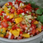 Mango, Peach and Pineapple Salsa - This fruity and spicy salsa is yummy on just about everything from chips to barbequed chicken, tacos, and even tofu!