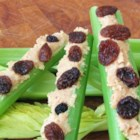 Ants on a Log - This is a fun snack that kids can make. It consists of artfully arranged celery, peanut butter, and raisins.