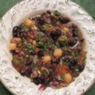Balela (Chickpea and Black Bean Salad) - Balela, a Middle Eastern-inspired salad, combines chickpeas, black beans, parsley, and lemon juice together into a quick and easy meal.