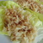Easy and Simple Vegetarian Lettuce Wraps - This recipe provides a meat-free version of Asian-style lettuce wraps using rice to fill romaine lettuce leaves.