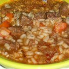 Chef John's Beef and Barley Stew - Chef John's recipe for beef and barley stew is made with beef shank, making a rich and delicious sauce for your meat and grain.