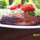 Grilled 'Fusion' Pork Chops - Combining Indian and Asian ingredients, these are some of the best pork chops we've eaten!