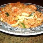 Prawn Nasi Goreng - A tasty Indonesian fried rice dish, combining stir-fried vegetables and shrimp in a delicious sauce.