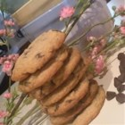 Chocolate Chip Coffee Cookies - Milk chocolate chip cookies flavored with coffee liqueur and cinnamon.