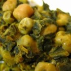 Chole Saag - This tastes exactly like the dish that I always get at my favorite Indian restaurant.  I made it up one day and everyone was shocked.  It has quite the mix of ingredients, but they all play a key role in getting the taste and consistency that I was looking for.