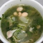 Cuban Green Soup - This is a great, hearty winter recipe with navy beans, a small piece of salt pork, turnips, and turnip greens. If you have a small army to feed, you may add a few potatoes and stalks of celery.