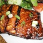 Honey-Ginger Grilled Salmon - This recipe is simple to make, yet impressive. The spicy, sweet, and salty marinade gives the fish a taste that my family goes nuts for! If it's too cold out to grill it, you also may broil it.