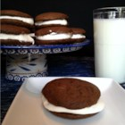 World's Best Maine Whoopie Pies - Ayuh - These chocolatey double cookies filled with fluffy white marshmallow frosting from Maine are wicked good, ayuh. Freeze them and they'll be ready for snacking anytime.