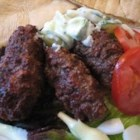 Serbian Cevapcici - A delicious little sausage-like meat. Great served as a sandwich.