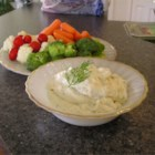 Dill Dip - A sure classic for a crowd. This dip is creamy with pretty flecks of green dill. Serve this with a range of crudite such as carrot sticks, celery, radishes, or cauliflower.